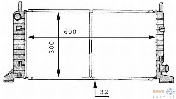 Радиатор, охлаждение двигателя BEHR HELLA SERVICE 8MK 376 706-661