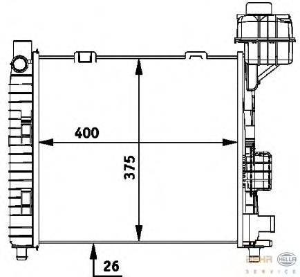 Радиатор, охлаждение двигателя BEHR HELLA SERVICE 8MK 376 713-031