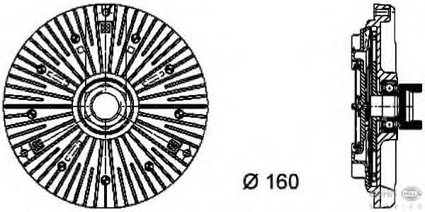 Сцепление, вентилятор радиатора BEHR HELLA SERVICE 8MV 376 732-111