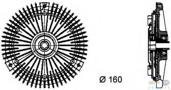Сцепление, вентилятор радиатора BEHR HELLA SERVICE 8MV 376 732-301