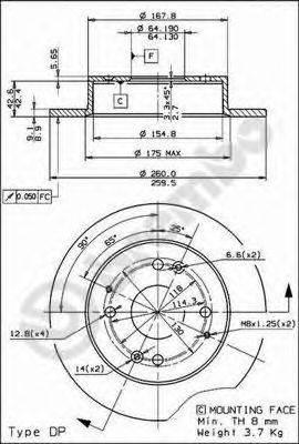 Тормозной диск AP 14481