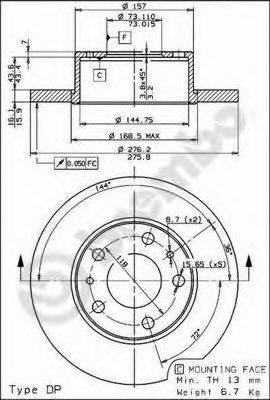 Тормозной диск AP 15386