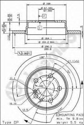 Тормозной диск BRECO BS 7458