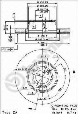 Тормозной диск BRECO BS 8143