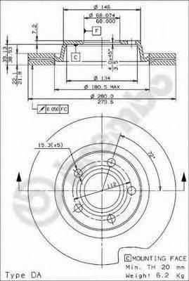 Тормозной диск BRECO BS 8285