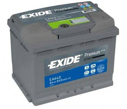 Стартерная аккумуляторная батарея; Стартерная аккумуляторная батарея EXIDE EA640
