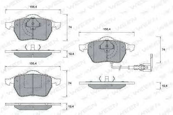 Комплект тормозных колодок, дисковый тормоз WEEN 151-1123