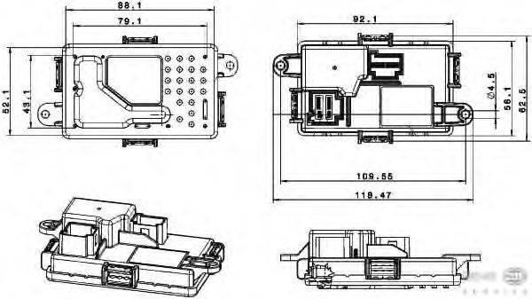 Регулятор, вентилятор салона BEHR HELLA SERVICE 5HL 351 321-651
