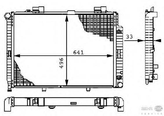 Радиатор, охлаждение двигателя BEHR HELLA SERVICE 8MK 376 710-231