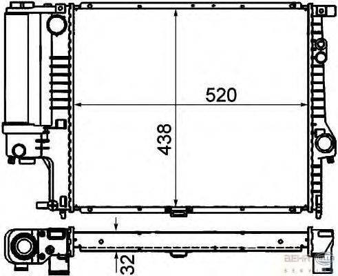Радиатор, охлаждение двигателя BEHR HELLA SERVICE 8MK 376 711-131