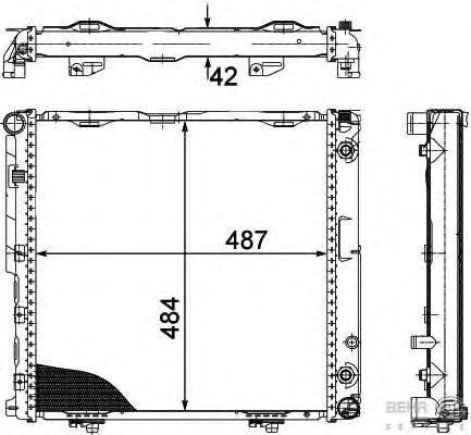 Радиатор, охлаждение двигателя BEHR HELLA SERVICE 8MK 376 712-431