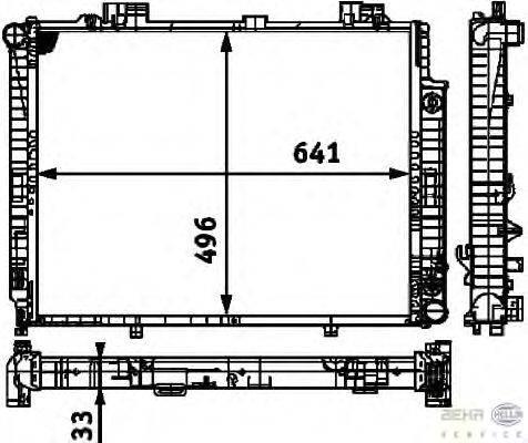 Радиатор, охлаждение двигателя BEHR HELLA SERVICE 8MK 376 712-741