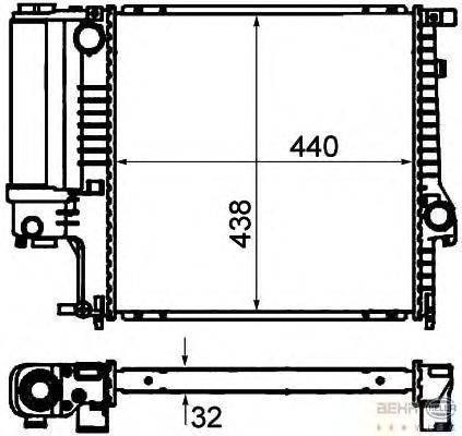 Радиатор, охлаждение двигателя BEHR HELLA SERVICE 8MK 376 713-121