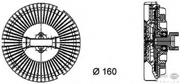 Сцепление, вентилятор радиатора BEHR HELLA SERVICE 8MV 376 733-021