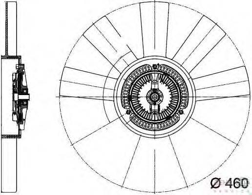 Вентилятор, охлаждение двигателя BEHR HELLA SERVICE 8MV 376 733-311