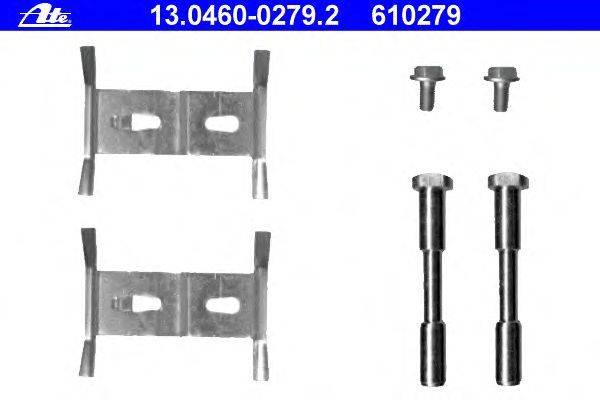 ATE (НОМЕР: 13.0460-0279.2) Комплектующие, колодки дискового тормоза