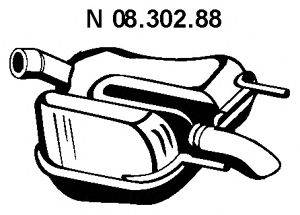 Глушитель выхлопных газов конечный EBERSPÄCHER 08.302.88