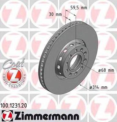 Тормозной диск ZIMMERMANN 100.1231.20