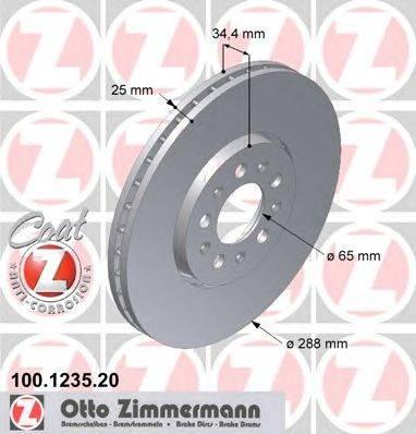 Тормозной диск ZIMMERMANN 100.1235.20