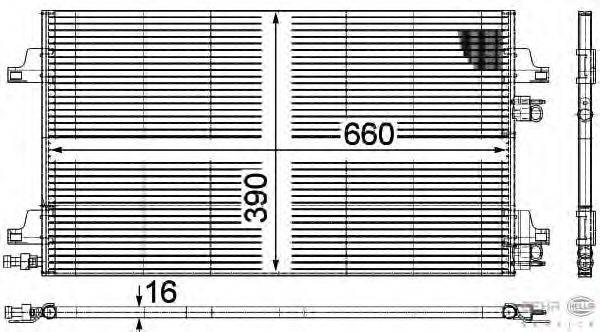Конденсатор, кондиционер BEHR HELLA SERVICE 8FC 351 301-644