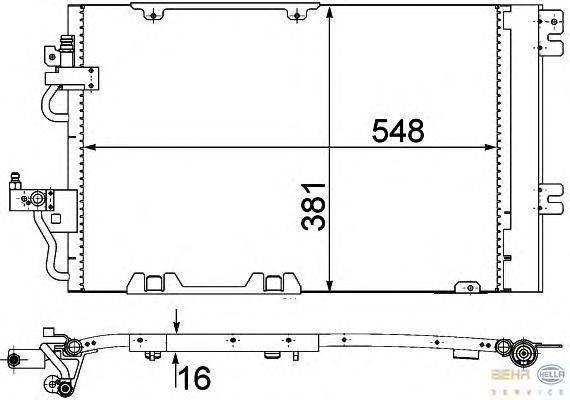 Конденсатор, кондиционер BEHR HELLA SERVICE 8FC 351 301-774