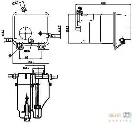 Компенсационный бак, охлаждающая жидкость BEHR HELLA SERVICE 8MA 376 755-211