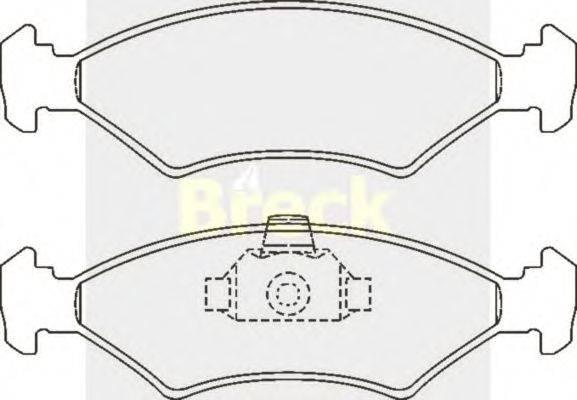 Комплект тормозных колодок, дисковый тормоз BRECK 20753 00 701 00