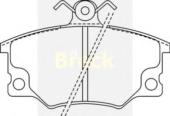 Комплект тормозных колодок, дисковый тормоз BRECK 20833 00 701 10