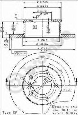 Тормозной диск AP 14312