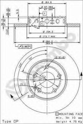 Тормозной диск BRECO BS 7566