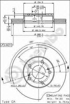 Тормозной диск BRECO BS 7987