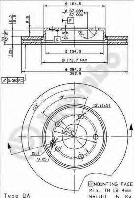 Тормозной диск BRECO BS 8311