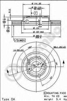 Тормозной диск BRECO BS 8322
