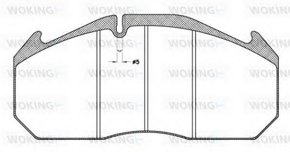 WOKING (НОМЕР: JSA 4063.11) Комплект тормозных колодок, дисковый тормоз