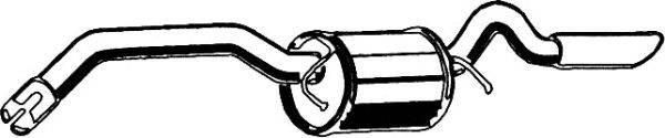Глушитель выхлопных газов конечный ASMET 01.058