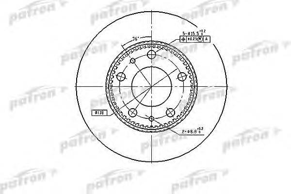 Тормозной диск PATRON PBD7300