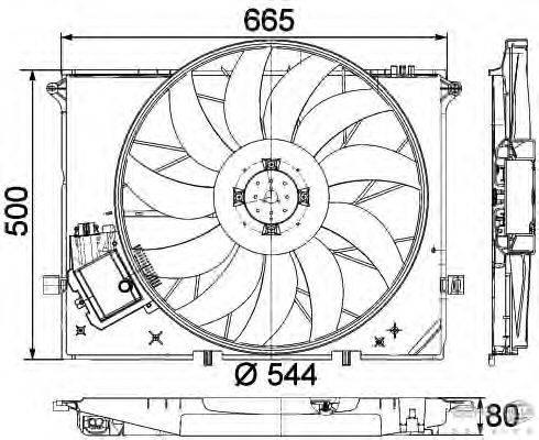 Вентилятор, охлаждение двигателя BEHR HELLA SERVICE 8EW 351 040-091