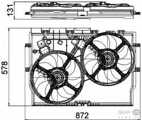 Вентилятор, охлаждение двигателя BEHR HELLA SERVICE 8EW 351 041-441