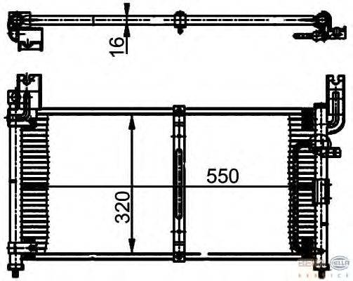 Конденсатор, кондиционер BEHR HELLA SERVICE 8FC 351 302-061