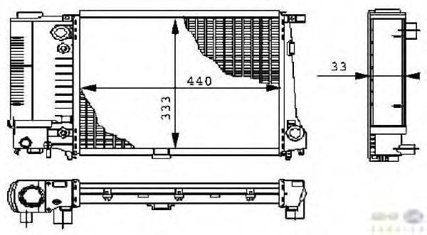 Радиатор, охлаждение двигателя BEHR HELLA SERVICE 8MK 376 711-591