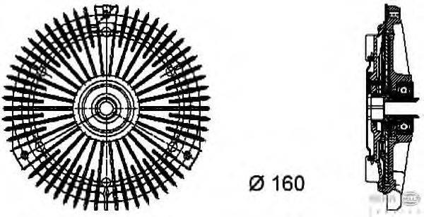 Сцепление, вентилятор радиатора BEHR HELLA SERVICE 8MV 376 732-251