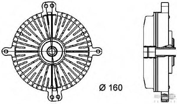 Сцепление, вентилятор радиатора BEHR HELLA SERVICE 8MV 376 733-061
