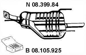 Глушитель выхлопных газов конечный EBERSPÄCHER 08.399.84