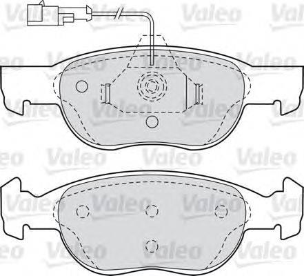 VALEO (НОМЕР: 540749) Комплект тормозных колодок, дисковый тормоз