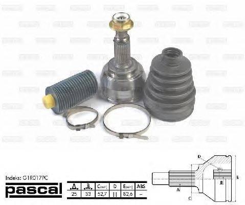 PASCAL (НОМЕР: G1R017PC) Шарнирный комплект, приводной вал