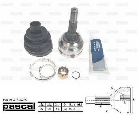 PASCAL (НОМЕР: G1X002PC) Шарнирный комплект, приводной вал