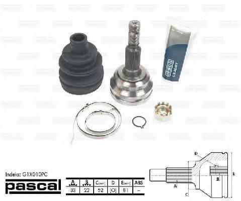 PASCAL (НОМЕР: G1X010PC) Шарнирный комплект, приводной вал