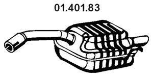 Глушитель выхлопных газов конечный EBERSPÄCHER 01.401.83