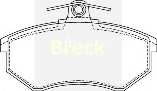 Комплект тормозных колодок, дисковый тормоз BRECK 20669 00 701 00
