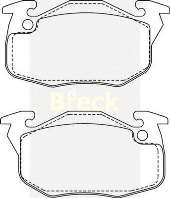 Комплект тормозных колодок, дисковый тормоз BRECK 20906 00 702 00